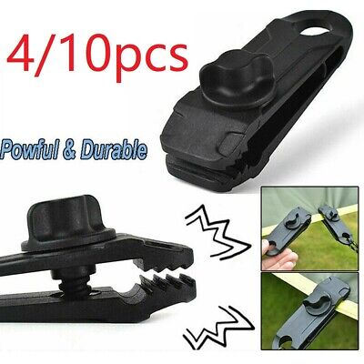 10Pcs Tarp Clips Lock Grip Awning Clamp Set Instant Clip Tent Accessories Black • 6.99£