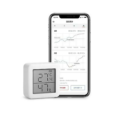 SwitchBot Thermometer Hygrometer Wireless Temperature Humidity Sensor With Alert • 19.99£