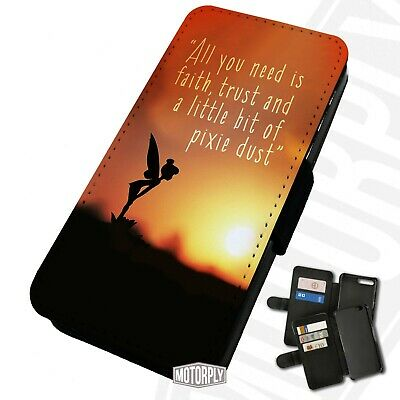 £9.75 • Buy Printed Faux Leather Flip Phone Case For IPhone - Tinkerbell-Silhouette-Sunset