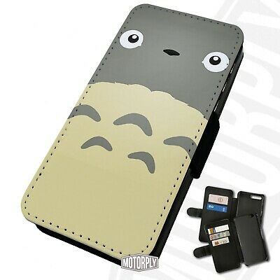 Printed Faux Leather Flip Phone Case For IPhone - Totoro-Face • 9.75£