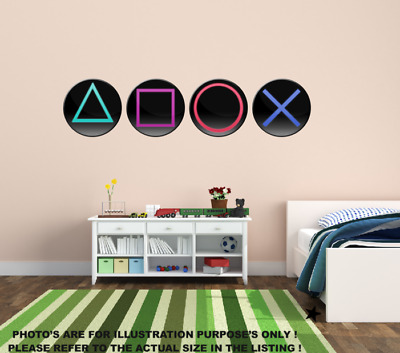 £9.99 • Buy Gaming PS5 Buttons Gamer Childrens Wall Stickers Bedroom Wall Art 2 Sizes