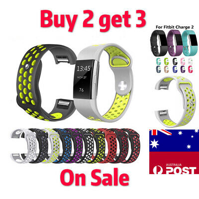 AU6.99 • Buy For Fitbit Charge 2 Bands Replacement Sport Strap Band Soft Silicone Adjustable