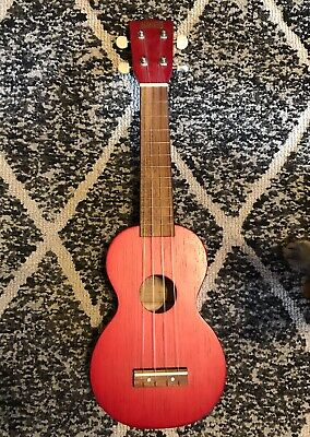 $22.99 • Buy Mahalo Series MK1 Ukulele Transparent Red In Great Condition