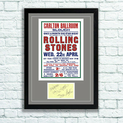 £7.95 • Buy The Rolling Stones Concert Poster And Autographs Memorabilia Poster Slough 64