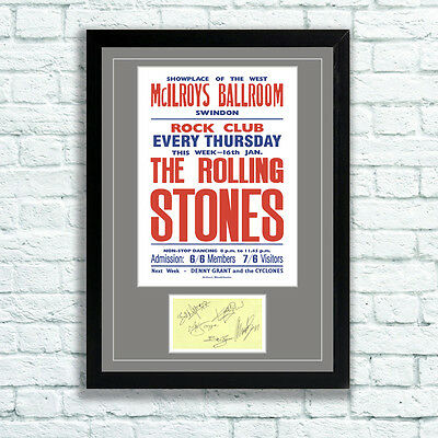 £7.95 • Buy The Rolling Stones Concert Poster And Autographs Memorabilia Poster Swindon 64