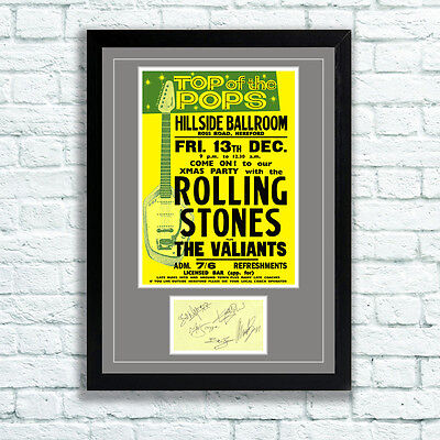£7.95 • Buy The Rolling Stones Concert Poster And Autographs Memorabilia Poster Hereford 63