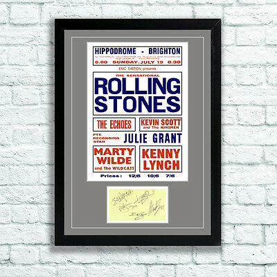 £7.95 • Buy The Rolling Stones Concert Poster And Autographs Memorabilia Poster Brighton 64