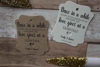 Personalised Ornate Wedding Favour Tags-Once In While-Fairytale • 7.95£