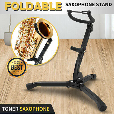 AU26.96 • Buy 1-2 Alto Tenor Saxophone Stand Folds Up Compactly Stand Tool  Sax Portable Metal