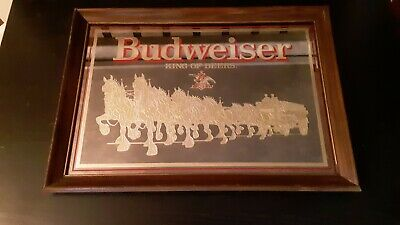 $ CDN111.91 • Buy Vintage Budweiser King Of Beers Clydesdale Bar Mirror Vintage C.1986