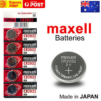 AU4.90 • Buy Maxell Cr2032 3v Lithium Coin Button Battery Made In Japan Au