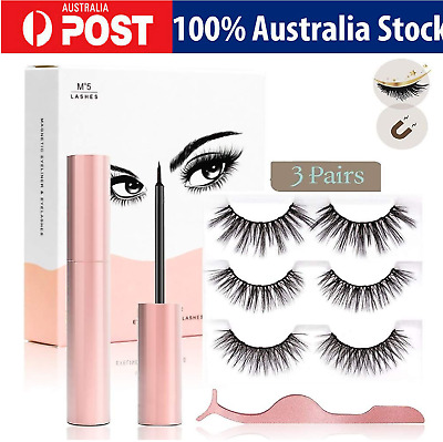 AU11.86 • Buy Magnetic Eyelashes With Liner Kit Easy To Apply And No Glue Needed Long Lash Set