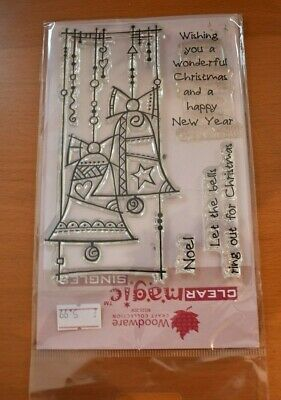 Set Of Clear Christmas Rubber Stamps • 1£