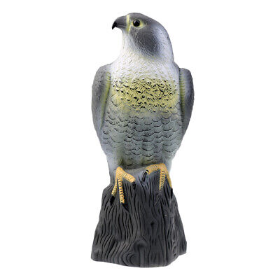 Lifelike Fake Falcon Hunting Decoy, Bird Repellent Scarecrow Hawk Decoy For • 10.94£