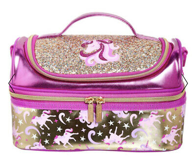 $ CDN26.46 • Buy  Smiggle Unicorn Gold Double Decker Lunch Box Bag With Strap