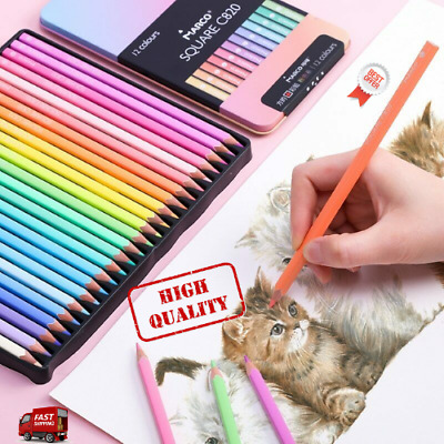 NEW Andstal Marco 12/24/48 Colors SQUARE BODY Trendy Pastel Color Pencils Oil  • 19.66£