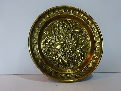 Arts And Crafts Hammered Brass Communion Paten Tray Possibly Keswick Or Glasgow • 35£