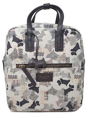 Radley Data Dog Medium Backpack Rucksack Oilskin NEW Tagged Bag • 52.95£