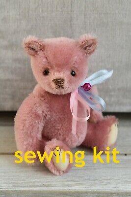 Sewing Kit To Make 'Ada' - 4.5  Tall - Mohair, Joints, Eyes, Etc Butterfly Bears • 15.50£