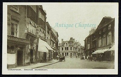 C.1905 Cheapside Melton Mowbray Leicestershire Postcard C759 • 15£