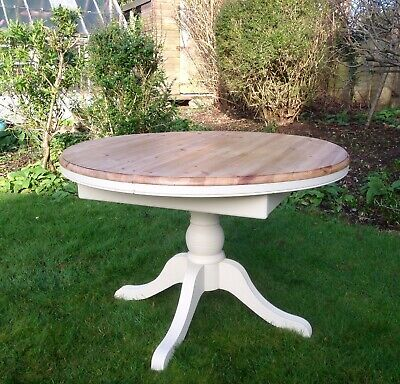 Beautiful Vintage Round Extending Dining Table Painted Annie Sloan • 345£