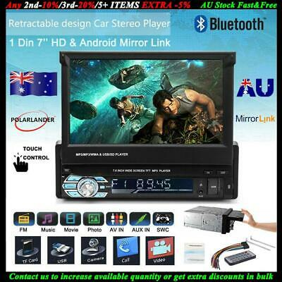 AU106.68 • Buy 1 Din Car Radio 7  Stereo Bluetooth Flip Out Touch Screen MP5 Player Single Din
