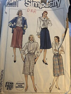 Ladies Skirt Dressmaking Pattern Simplicity 9352 Size 10 Used • 2.99£