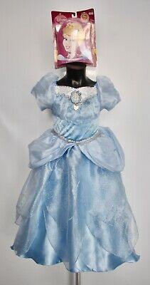 Girls Cinderella Costume Ball Gown & Wig Disney Princess Fancy Dress Age 3-4 • 24.99£