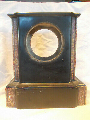 Marble??? And Black Slate Mantel  Clock Case, Damaged.  • 5.99£