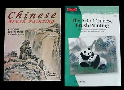 Two Chinese Brush Painting Paperback Books - A Guide To The Style & Techniques • 23.99£