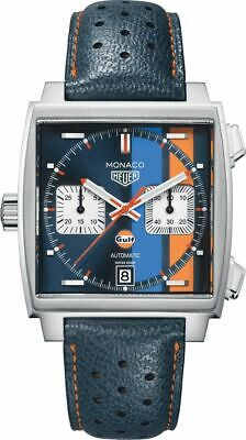 New TAG Heuer Monaco Gulf Steve McQueen Men's Watch CAW211R.FC6401 • 3,245.49£