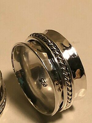 925 Sterling Silver Taxco Silver Spinner Rings, Band Men Or Women Ring • 28.62£