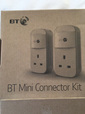 2 BT Mini Connector 1 GB Power Line Adapters With 2 Ethernet Ports  • 5.50£