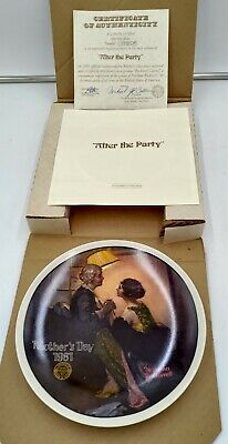 $ CDN15 • Buy Norman Rockwell  Mothers Day 1981  Collector Plate - Edwin M. Knowles-NEW