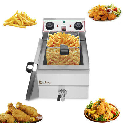 £76.99 • Buy Electric Deep Fryer Stainless Steel Fat Chip Commercial Single Tank W/ Timer 12L