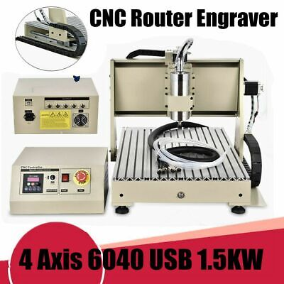 AU1784.01 • Buy USB 4 Axis 6040 CNC Router Engraver Engraving Milling Metal Carving Machine1.5KW