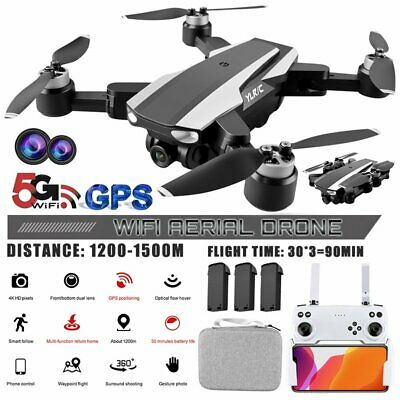 AU169.57 • Buy 5G 4K 6K Foldable Drones With HD Dual Camera With GPS WiFi Selfie RC Quadcopter