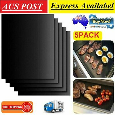 AU10.99 • Buy 5PCS BBQ Mat Reuseable Barbecue Non-stick Liners Pan Fry Liner Pads Cooking Tool