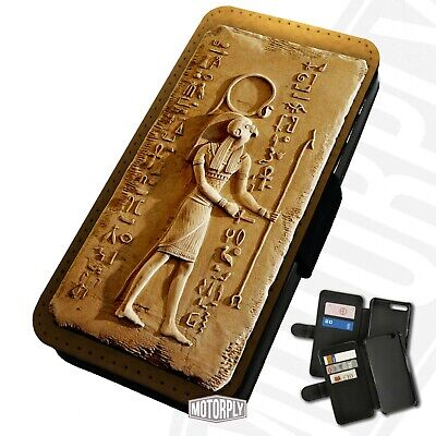 £9.75 • Buy Printed Faux Leather Flip Phone Case For IPhone - Egyptian-Carving-Horus