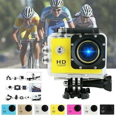 Underwater Waterproof Action Camera 1080P Sports Camera+Mounting Accessories • 11.28£
