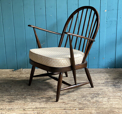 Mid Century Model 176 Retro Ercol Windsor Chair +Cushion Beech Elm DELIVERY🚚* • 159.99£