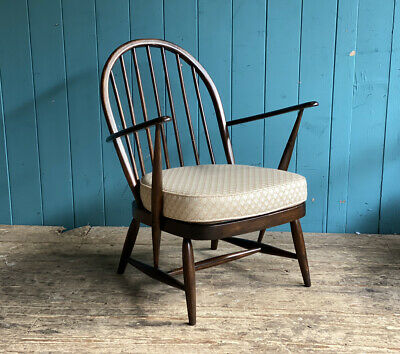 Mid Century Model 176 Retro Ercol Windsor Chair +Cushion Beech & Elm DELIVERY* • 159.99£