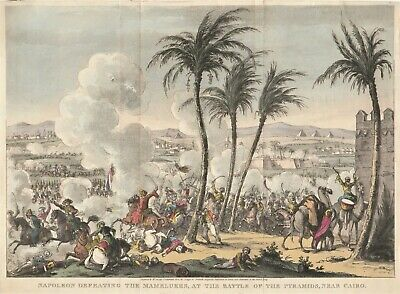 1823 Aquatint Napoleon At The Battle Of The Pyramids By George Cruikshank • 60£