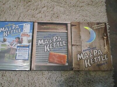 $21.99 • Buy The Adventures Of Ma And Pa Kettle - Volumes 1 & 2 Disc Sets + 3 Sets SEALED