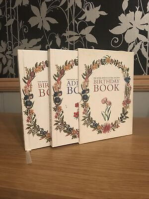 Set Of The Royal Horticultural Society Birthday & Address Book In Display Sleeve • 2.99£