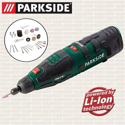 PARKSIDE Cordless Rotary Multi Tool 12V Li-Ion With 44+ Dremel Type Accessories • 34.99£
