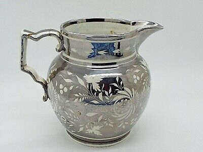 Antique Staffordshire Silver Lustre Creamer Milk Jug Handle Repaired  • 12.09£