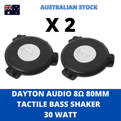 AU62.95 • Buy 2 X The Puck Tactile Transducer Mini Bass Shaker Sub Woofer By Dayton 8Ω TT25-8