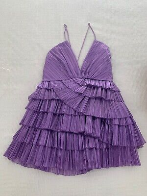 AU400 • Buy Alice McCall - Don't Be Shy Dress - Ultra Violet - Size 12- Brand New - RRP $590