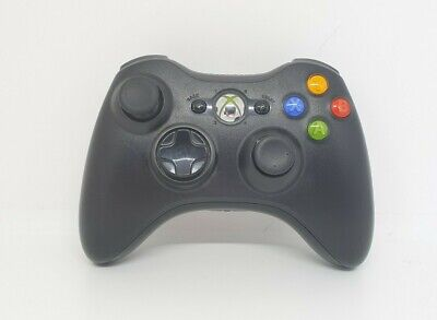 AU37.99 • Buy Genuine Microsoft Xbox 360 Controller-Black W/White Replacement Battery Cover
